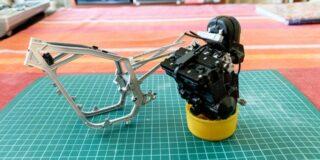 GSX-Rのフレームとエンジン